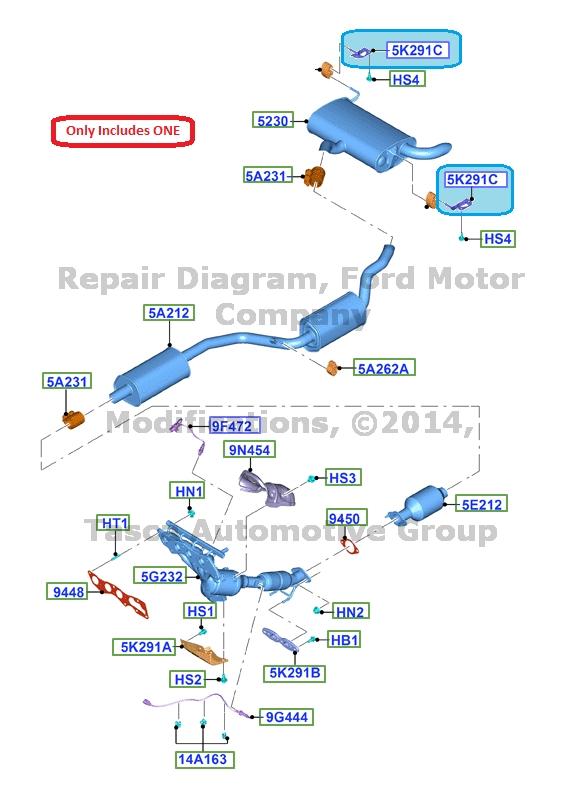 BRAND NEW OEM LH EXHAUST PIPE MOUNTING BRACKET FORD C MAX FOCUS #CV6Z-5K291-C