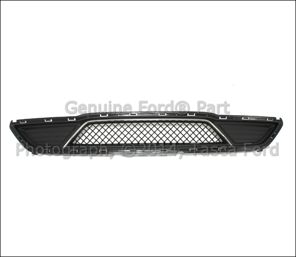 2015 Ford Taurus Se: NEW OEM FRONT BUMPER LOWER BLACK GRILLE WITH CHROME INSERT