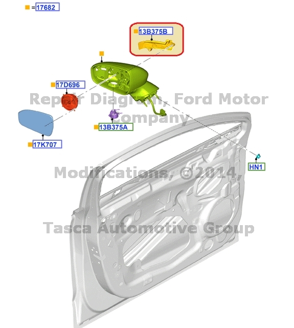 NEW OEM LH DRIVER SIDE VIEW MIRROR TURN SIGNAL LAMP LIGHT 2013-2014 FORD FUSION