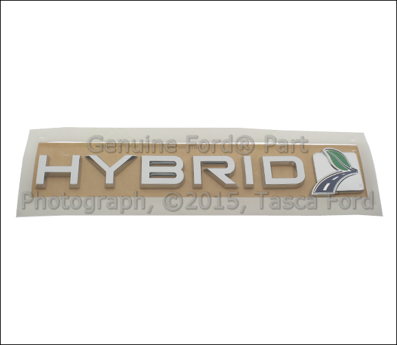 NEW OEM HYBRID SCRIPT LH OR RH SIDE FRONT DOOR EMBLEM 2013