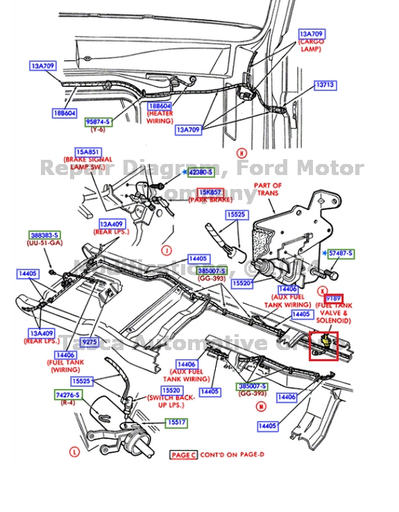 90 ford truck fuel tank switching valve wiring diagram