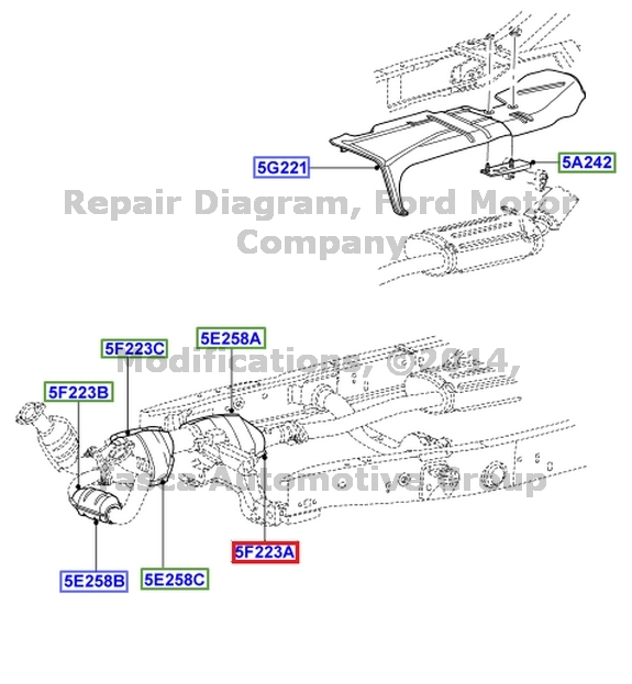 2002 ford ranger exhaust diagram