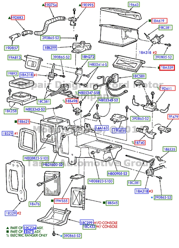 1996 ford ranger heater core box diagram html