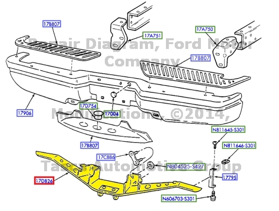 New Oem Rear Bumper Reinforcement Hitch Plate Ford F150
