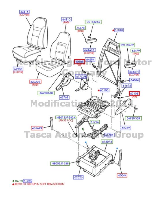 NEW OEM ARMREST TO SEAT BACK FRAME ATTACHING HARDWARE E150 250 350 450 ECONOLINE