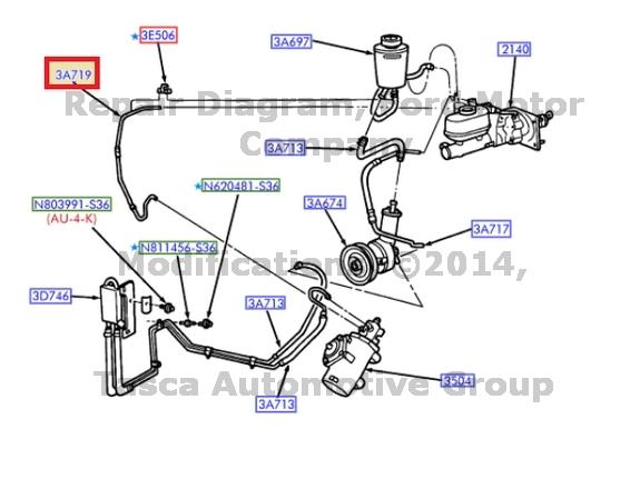 Brand New Oem Power Steering Hose 1997