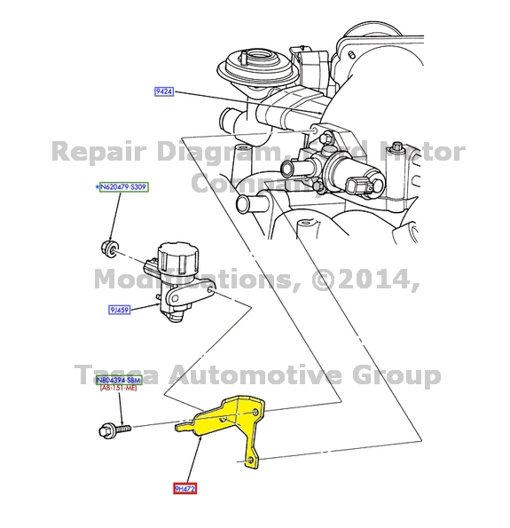 new oem egr vacuum valve solenoid bracket ford e series excursion f250 f350 sd