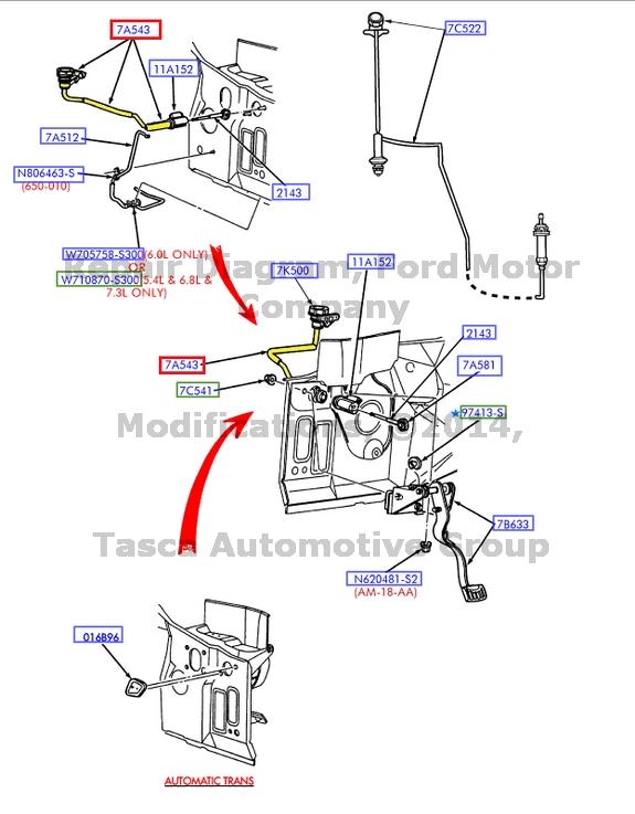 New Oem Clutch Master Cylinder To Slave Tube F250 350 450