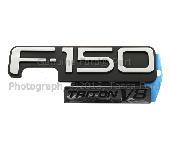 brand new oem f150 triton v8 emblem ford f150 1998 2004 f85z 16720 ca ebay. Black Bedroom Furniture Sets. Home Design Ideas