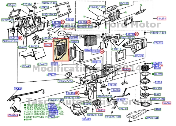 NEW OEM AUXILIARY HEATER CORE 1998-02 FORD EXPEDITION 1999 ...