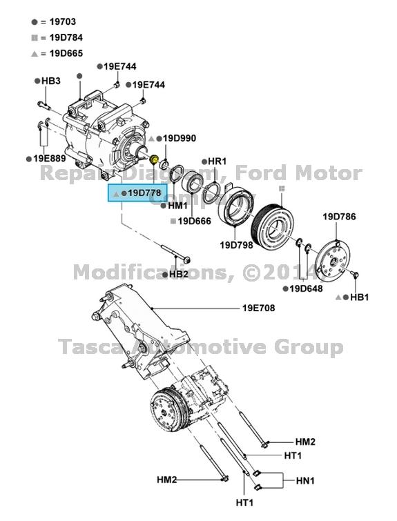 new oem ac compressor restrictor seal ford f150 escape ranger lincoln mark lt