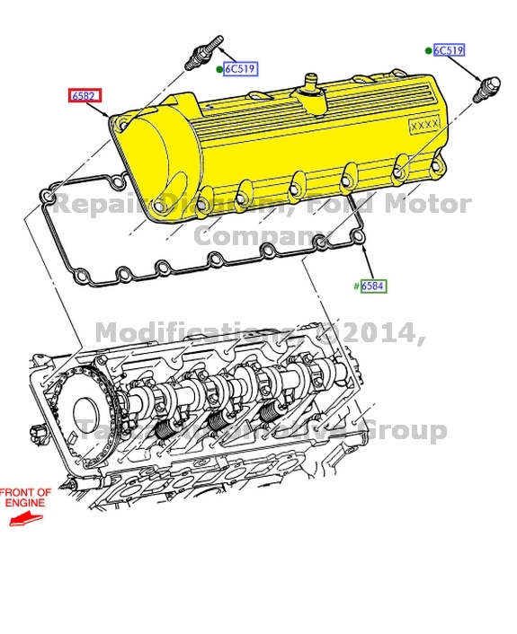NEW OEM LEFT SIDE VALVE COVER FORD 350 E450 ESD F53 EXCURSION F SERIES SD 6.8L