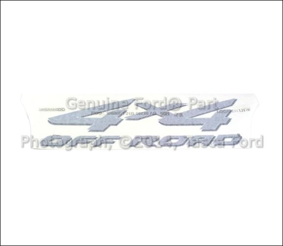 2002 Ford F350 Super Duty Regular Cab Head Gasket: NEW OEM 4X4 OFF ROAD DECAL SILVER & BLACK 2000-2002 FORD