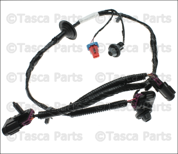 1 new oem gm rear license plate light wiring harness avalanche 2006 escalade radio wiring harness at bayanpartner.co