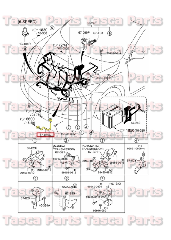 new engine wiring harness 2 0l 2 5l 2010 2013 mazda 3 w manual transmission ebay