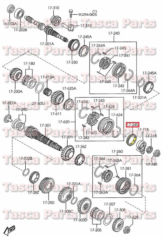 new oem manual transmission synchronizer ring gear mazda 2