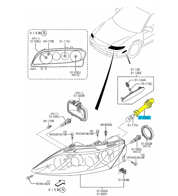 Mazda 6 Light Diagram on headlight adjustment diagram