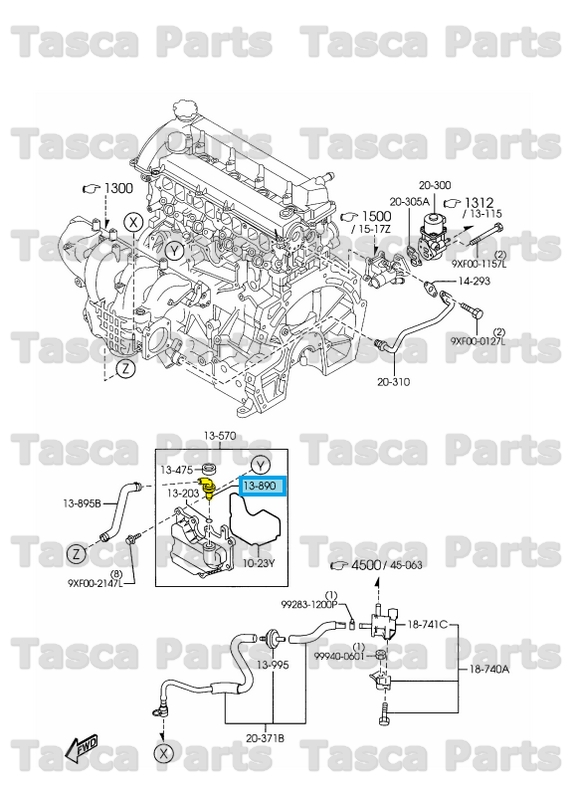 New Oem Intake Manifold Oil Seperator P C V  Valve 2 3l Mazda 3 Cx7 Speed6