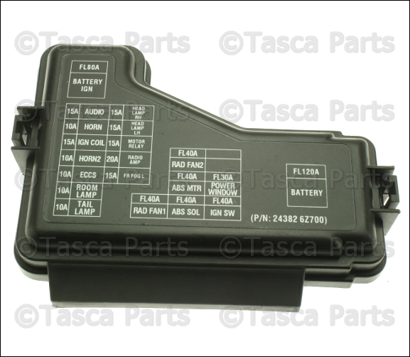 brand new oem fuse box cover 2 5l l4 2003 2006 nissan sentra sedan se r spec v ebay