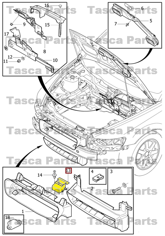 brand new oem front bumper air guide channel 2004