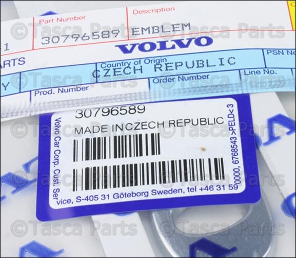 """BRAND NEW OEM TRUNK /""""V O L V O/"""" NAME EMBLEM 2011-2013 VOLVO S60 #30796589"""