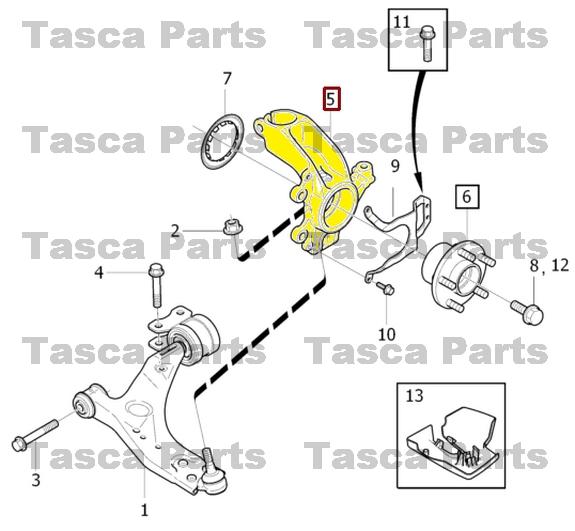 brand new oem front rh wheel suspension steering knuckle