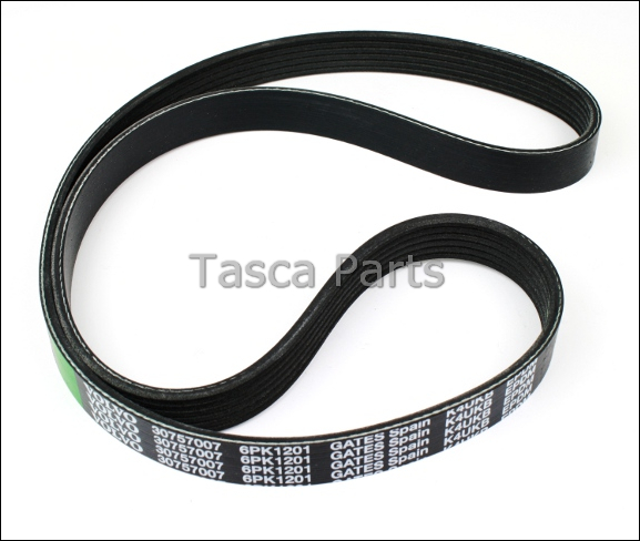 new oem auxiliary drive belt 2007 2013 volvo v70 xc90 s80. Black Bedroom Furniture Sets. Home Design Ideas