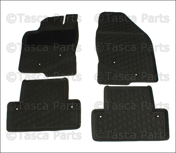 brand new oem set of 4 gray all weather rubber floor mats. Black Bedroom Furniture Sets. Home Design Ideas
