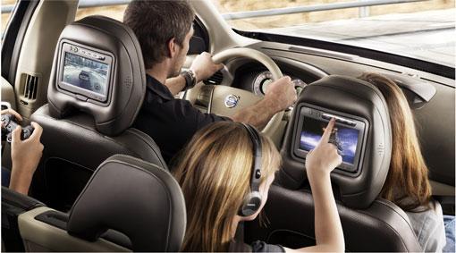 new oem black rear seat dvd entertainment system 2008 2012. Black Bedroom Furniture Sets. Home Design Ideas