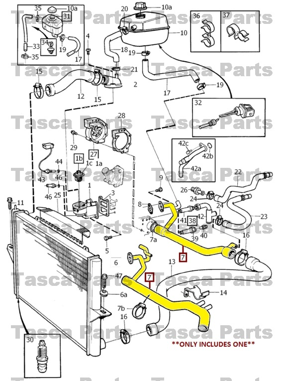 BRAND NEW OEM COOLING SYSTEM COOLANT PIPE 1994-2004 VOLVO ...
