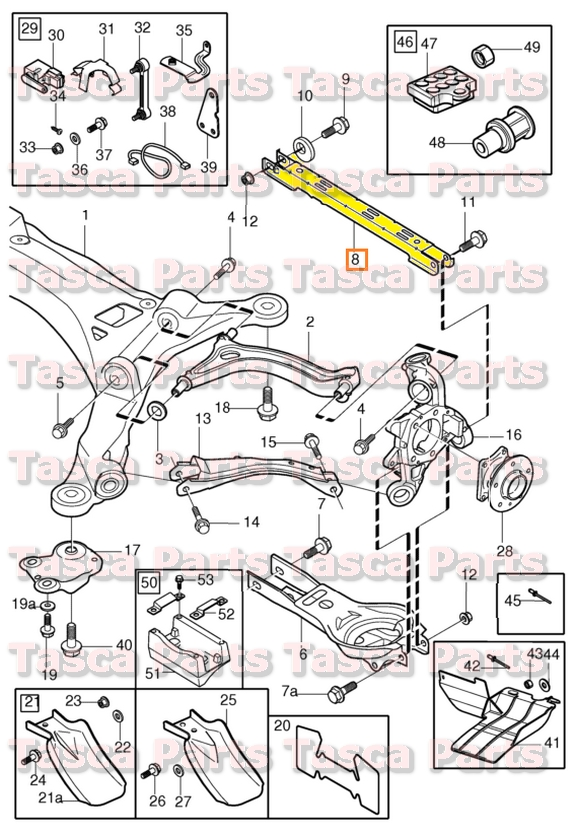 Brand New Oem Rear Suspension Stay Arm 99 14 Volvo S60 S80