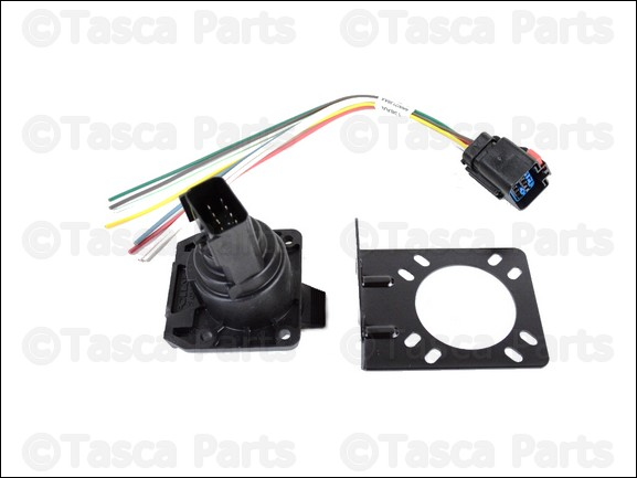 new oem mopar 7 way connector trailer tow wiring harness ... dodge 7 way trailer wiring 7 way trailer wiring diagram toyota tacoma #8