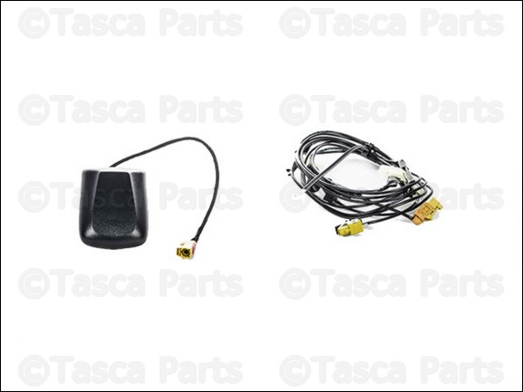 07-10 Jeep Wrangler New Satellite Radio Antenna /& Wiring Harness Kit Mopar