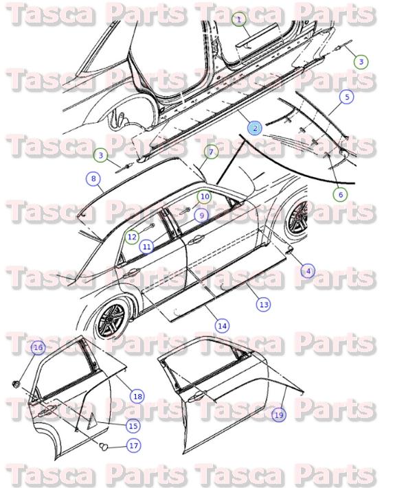 BRAND NEW GENUINE MOPAR OEM ROCKER PANEL GUARD #1JK94TZZAB