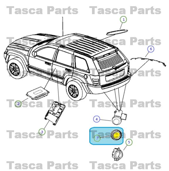 new oem mopar front or rear park assist sensor spacer 2005