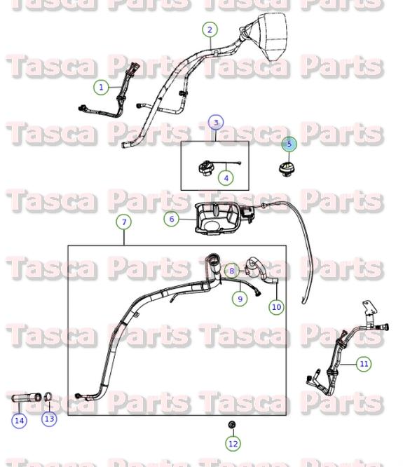 OEM-Locking-Fuel-Tapon-2001-2013-Dodge-Chrysler-Jeep-vehiculos-5278655AB miniatura 5