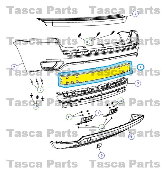 0?refresh new oem mopar rear bumper reinforcement bar jeep compass patriot