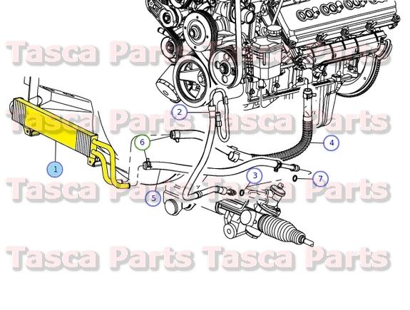 OEM POWER STEERING OIL COOLER 20092012 DODGE RAM 1500 RAM 2500 – Dodge Ram 3500 Engine Parts Diagram