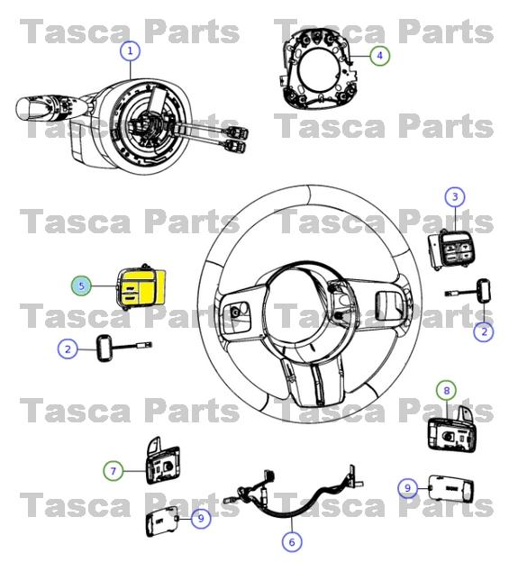 oem steering wheel evic switch 2011