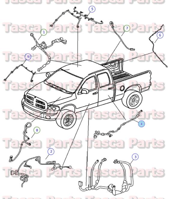 new oem mopar rh or lh rear door wiring harness dodge ram 1500 2500 new oem mopar rh or lh rear door wiring harness dodge ram 1500 2500 56051931ab