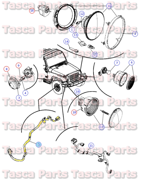 2 new oem rh or lh front side marker light wiring harness 2007 2015 marker light wiring harness at readyjetset.co