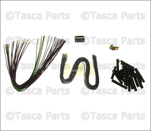 new oem mopar radio wiring harness plug gray 2007 2009. Black Bedroom Furniture Sets. Home Design Ideas