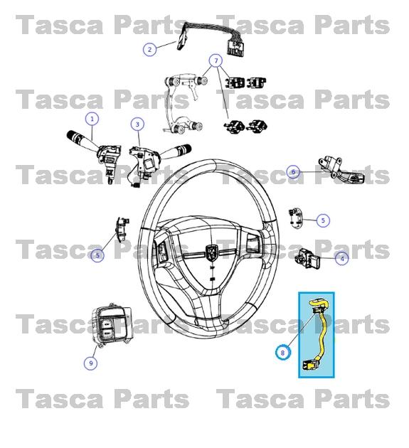 new oem mopar steering wheel wiring harness dodge chrysler jeep  68036592aa