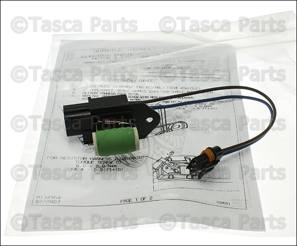 NEW OEM MOPAR RADIATOR FAN MOTOR WIRING CHRYSLER 300 DODGE