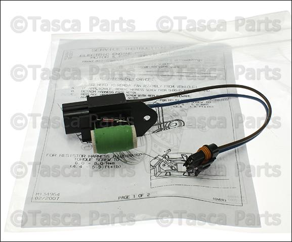 chrysler oem cooling fan wire harness 68050128aa ebay rh ebay com Chevrolet TrailBlazer Cooling Fan Wiring Harness electric cooling fan wiring harness