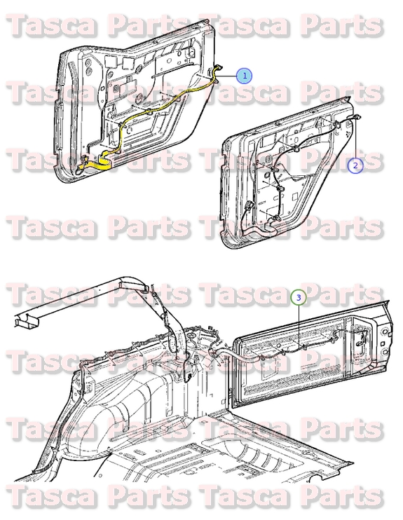2 oem mopar lh front door panel wiring harness 2011 2013 jeep jeep jk oem dash wiring harness at panicattacktreatment.co