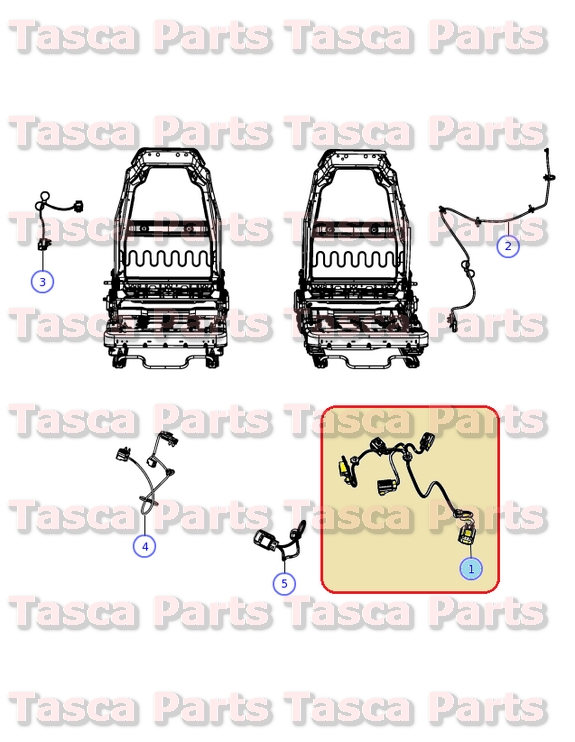 Details about NEW OEM MOPAR LH FRONT SEAT WIRING HARNESS 2011-2013 on