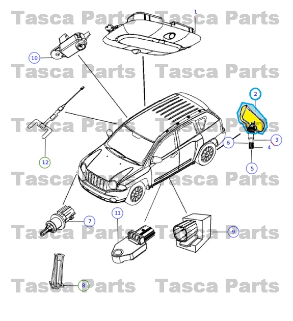 new oem mopar tire pressure sensor mounting hardware 2010