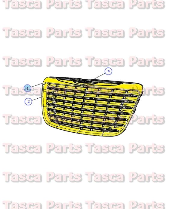 2012 Chrysler 200 Grill >> BRAND NEW OEM MOPAR CHROME RADIATOR GRILLE 2011-2014 CHRYSLER 300 #68127942AE   eBay