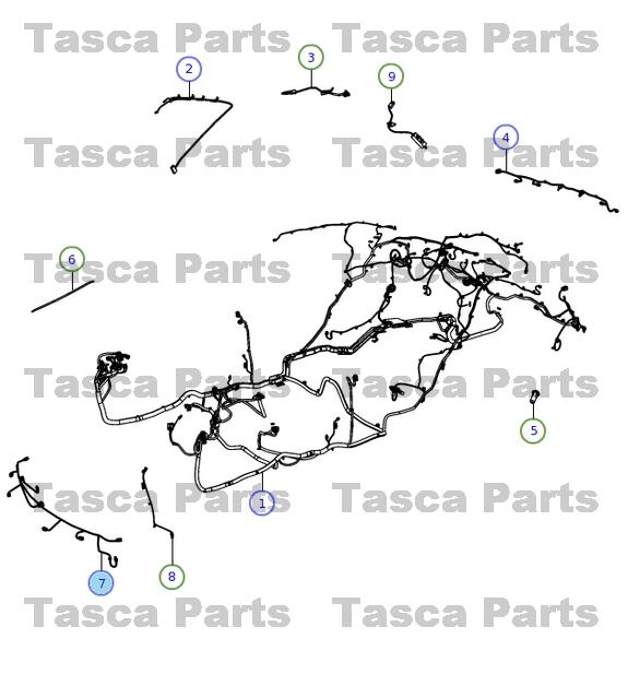 oem parachoques delantero park assist cableado arn s 2011 2014 rh ebay com chrysler 300 engine wiring harness chrysler 300 radio wiring harness